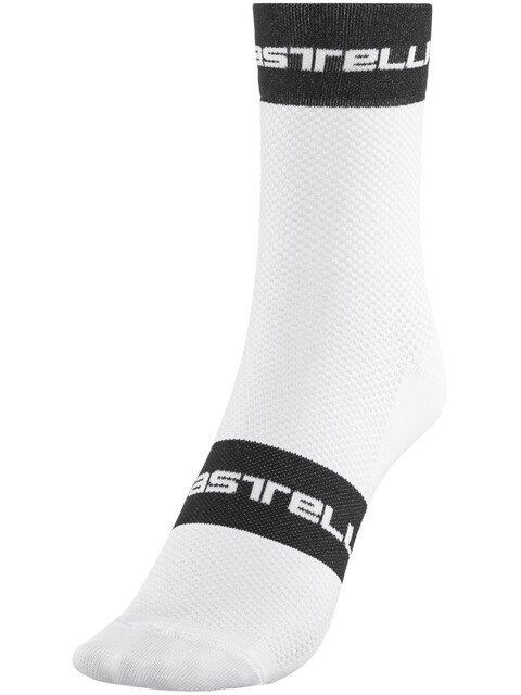 Castelli Free 9 Socks white/black/red